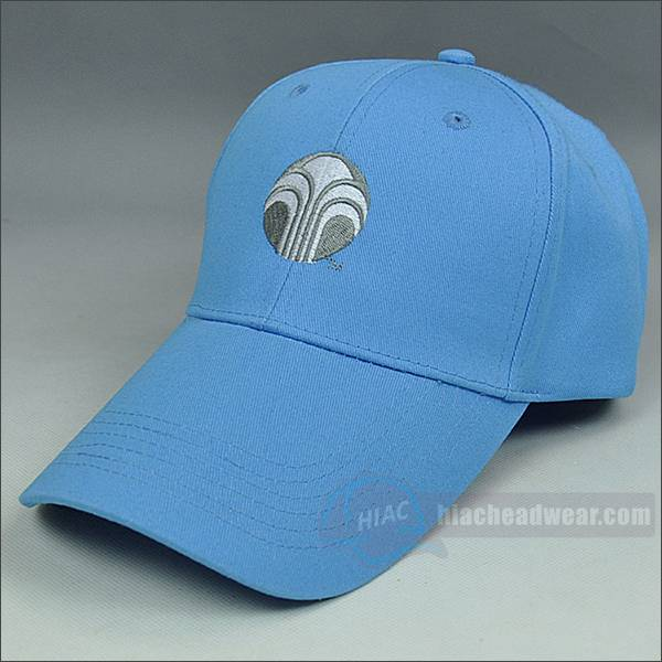 Custom long bill blue baseball hat