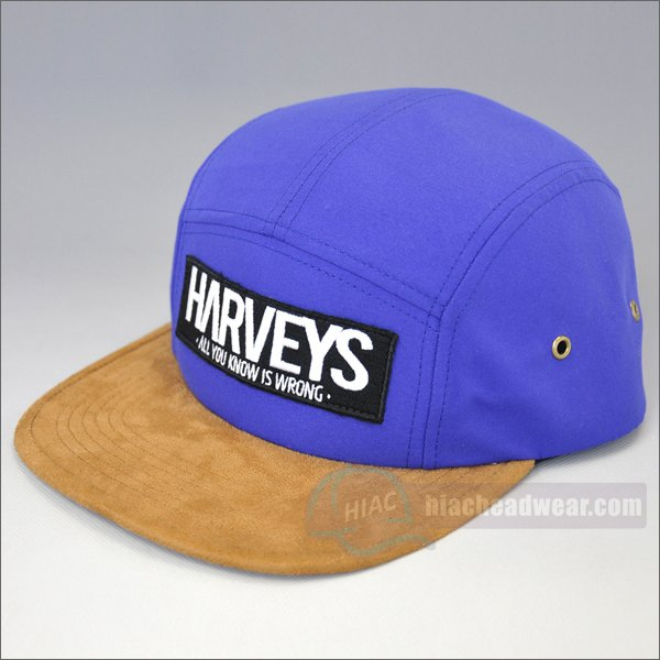 custom 5 panel snapback purple label
