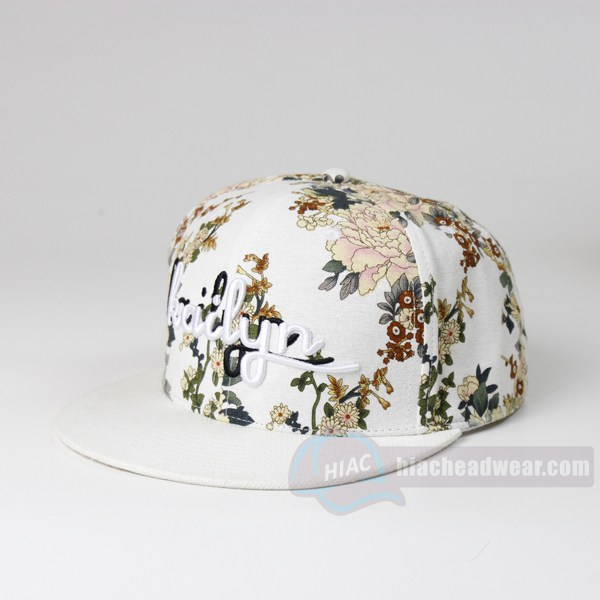 custom best snapbacks Blank floral print for women