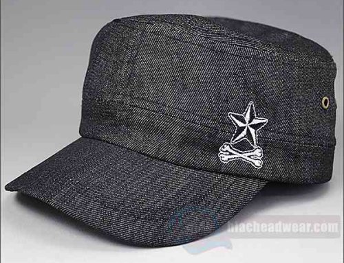 Custom Black Military Hats