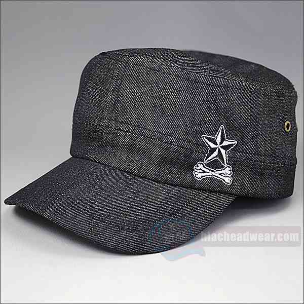custom black military hats left