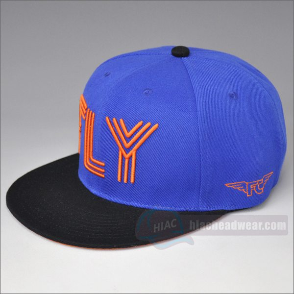 custom bule snapback embroidery
