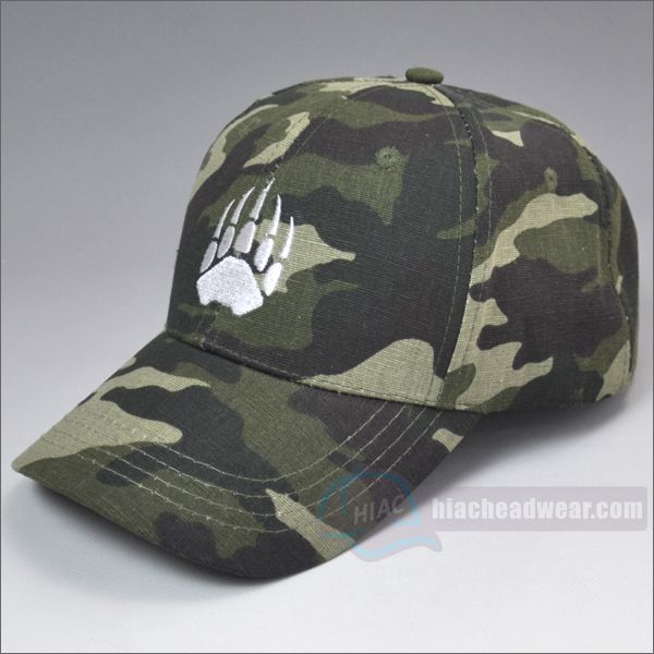 custom camo baseball hat left