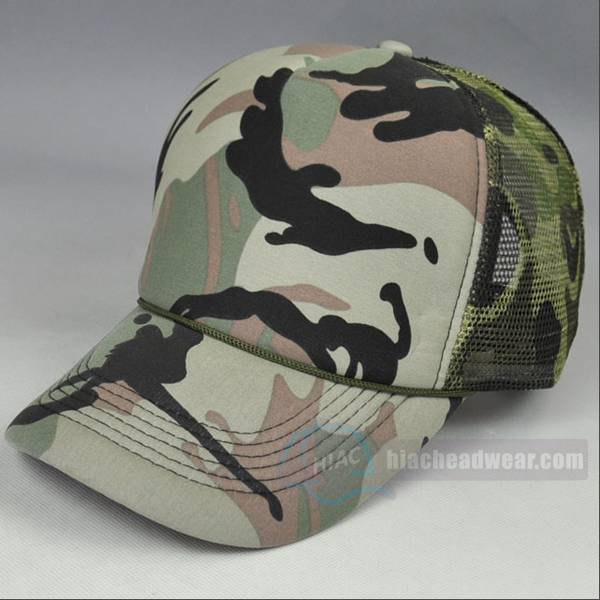 custom camo trucker hat