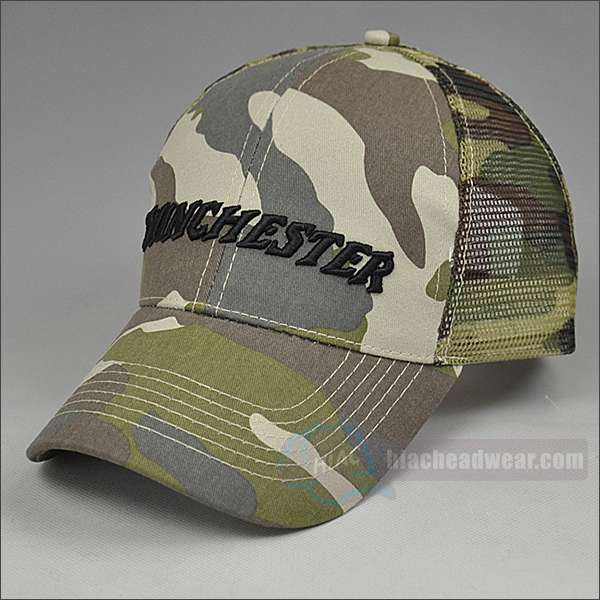 custom camo trucker hats 3d embroidery