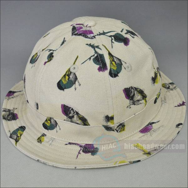 custom cotton canvas bucket hat