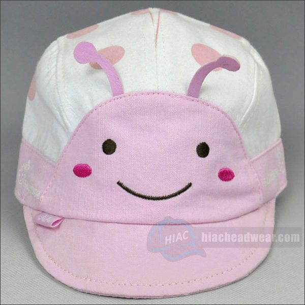 custom emb pink childrens hat