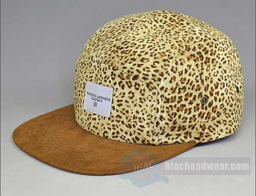 Custom Leopard Five Panel Caps