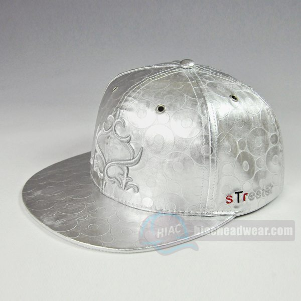 custom flat brim hats leather