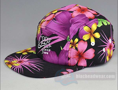 Custom Floral Five Panel Hats