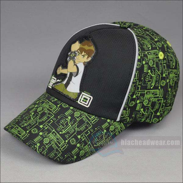 custom kids green baseball hats left
