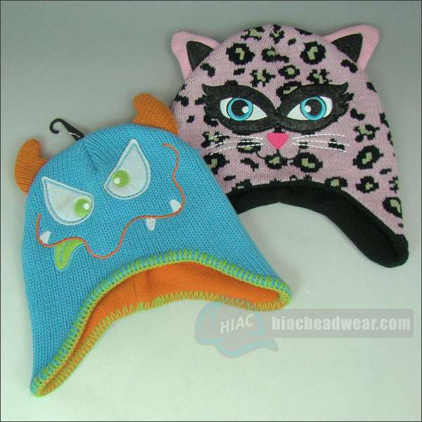 custom kids winter hats cat