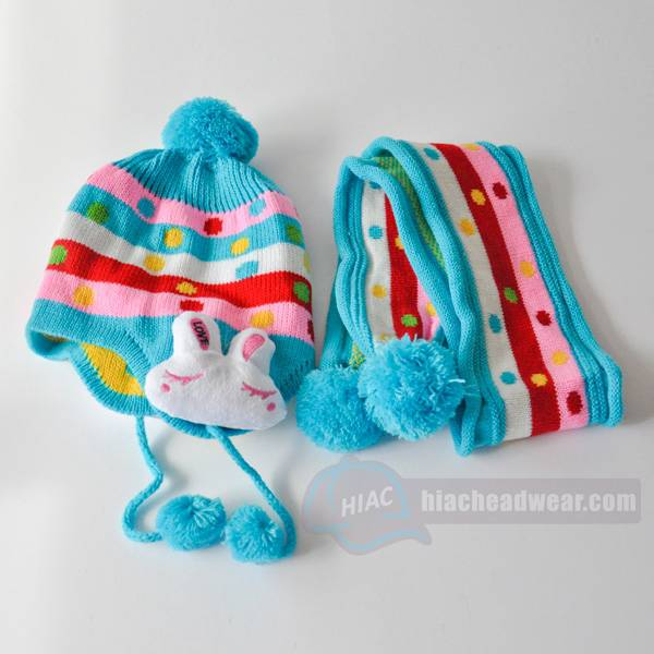 custom kids winter hats crochet rabbit