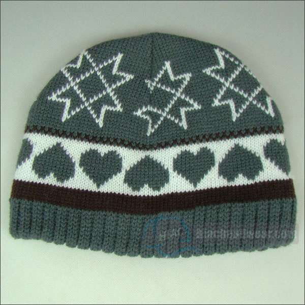custom knitted beanie double layer
