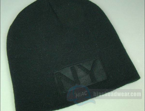 Custom Black Knitted Beanies
