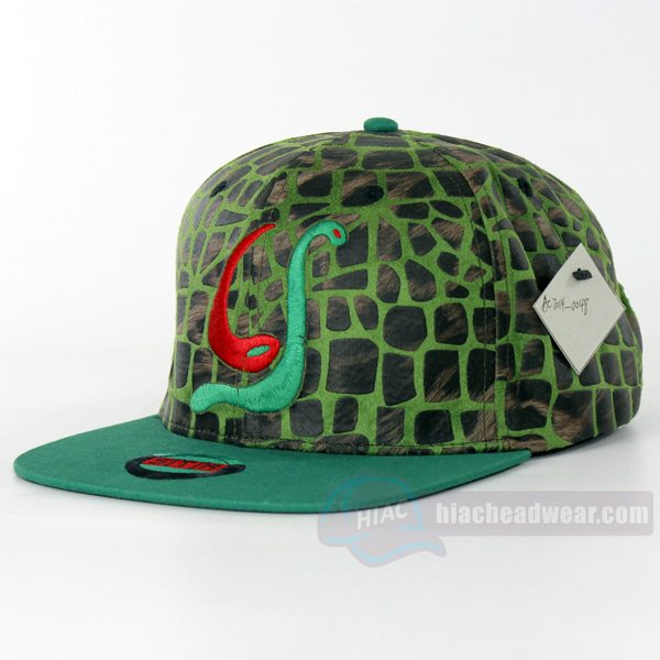 custom leather snapback snakeskin leather left