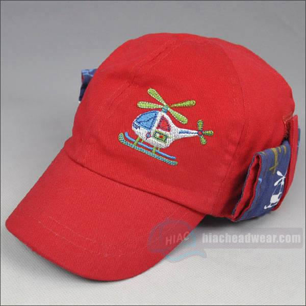 custom red kids baseball hats