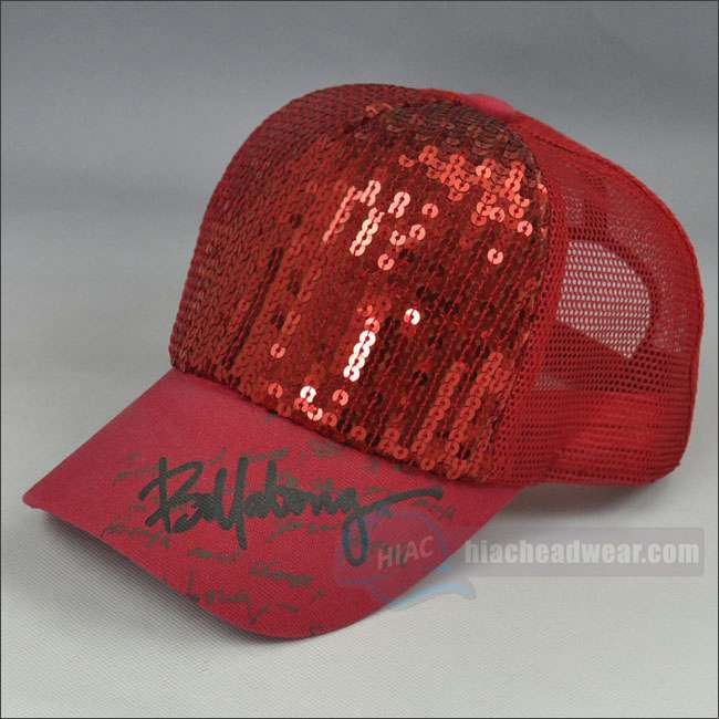 custom red trucker hat