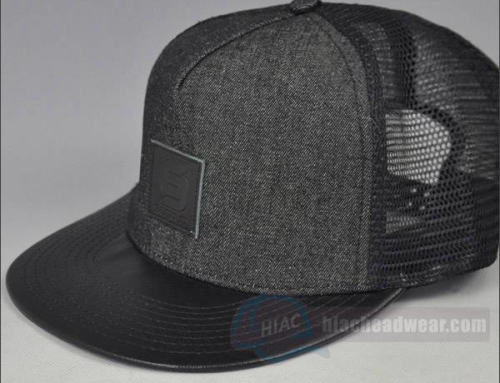 Custom Leather Patch Trucker Snapbacks