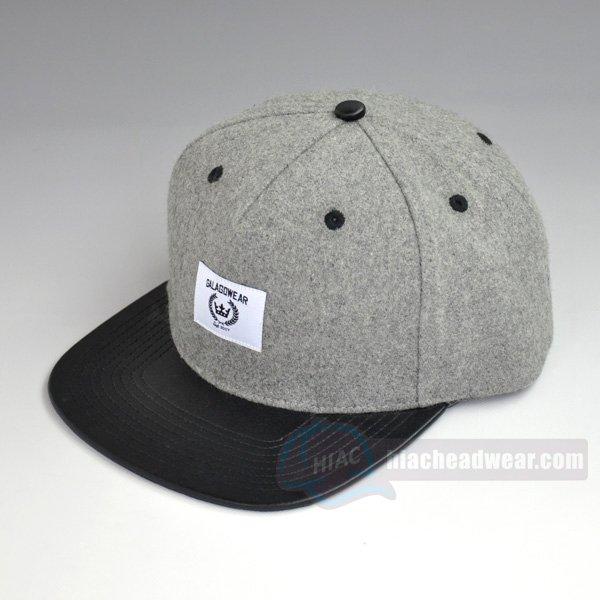 custom vintage snapbacks 5 panel leather strapback