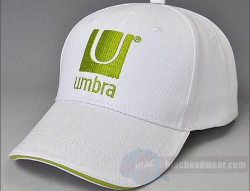Custom White Embroidery Cotton Baseball Cap