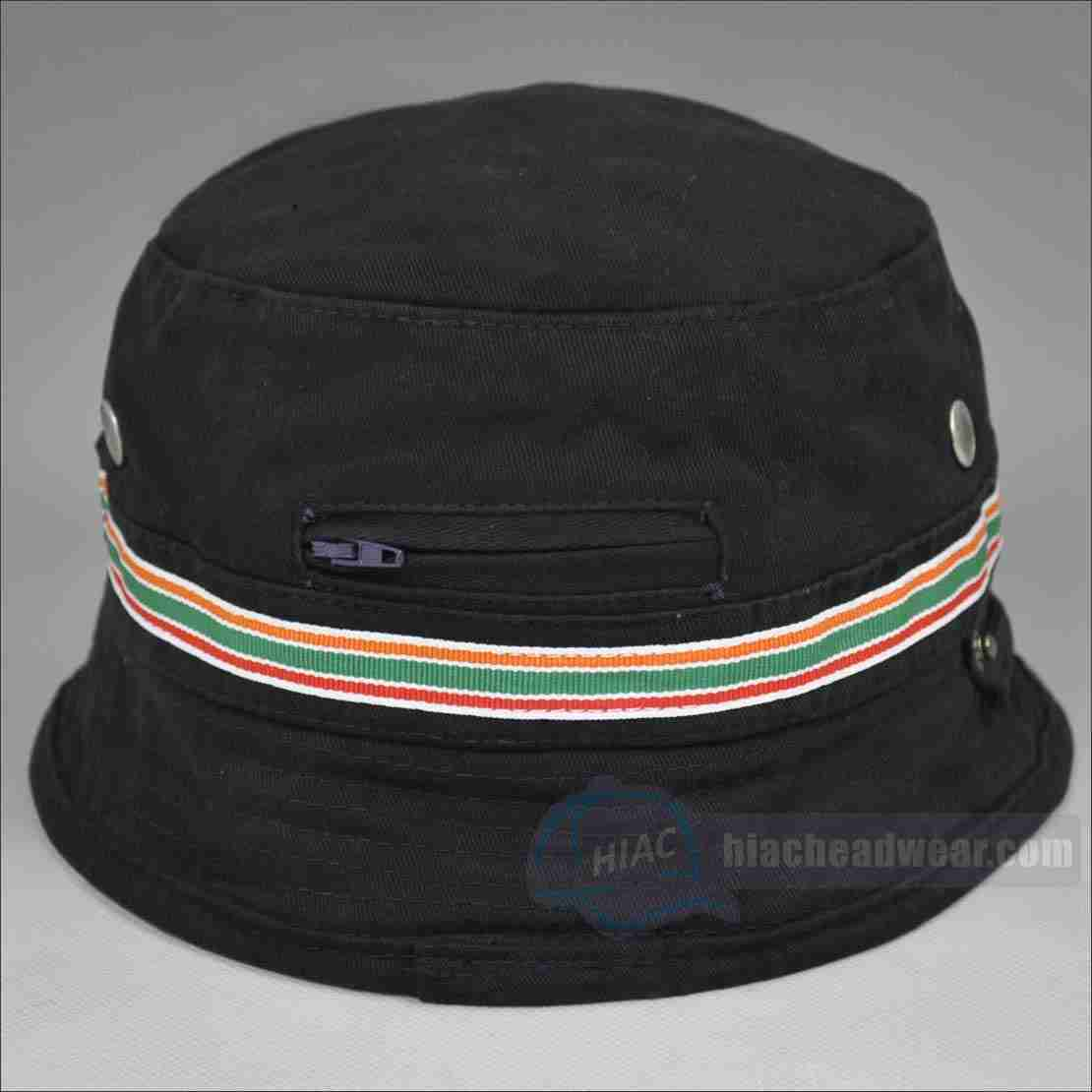 custom wholesale black bucket hats