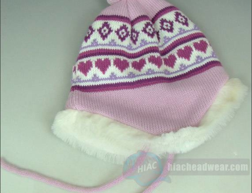 Custom Winter Knit Hat With Ear Cover