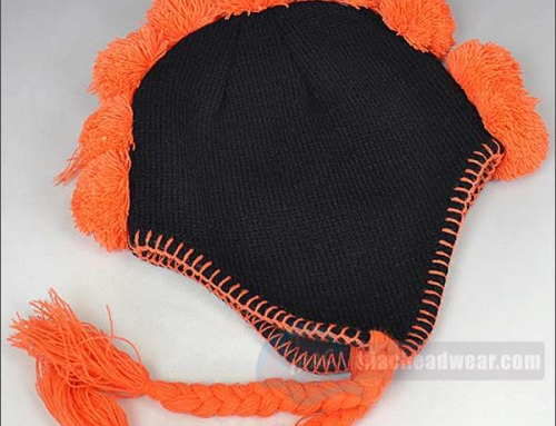 Custom Womens Winter Hats Orange