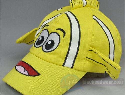 Custom Yellow Cartoon Kids Baseball Hat