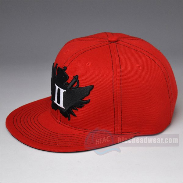 customize snapbacks 6 panel 3D embroidery logo